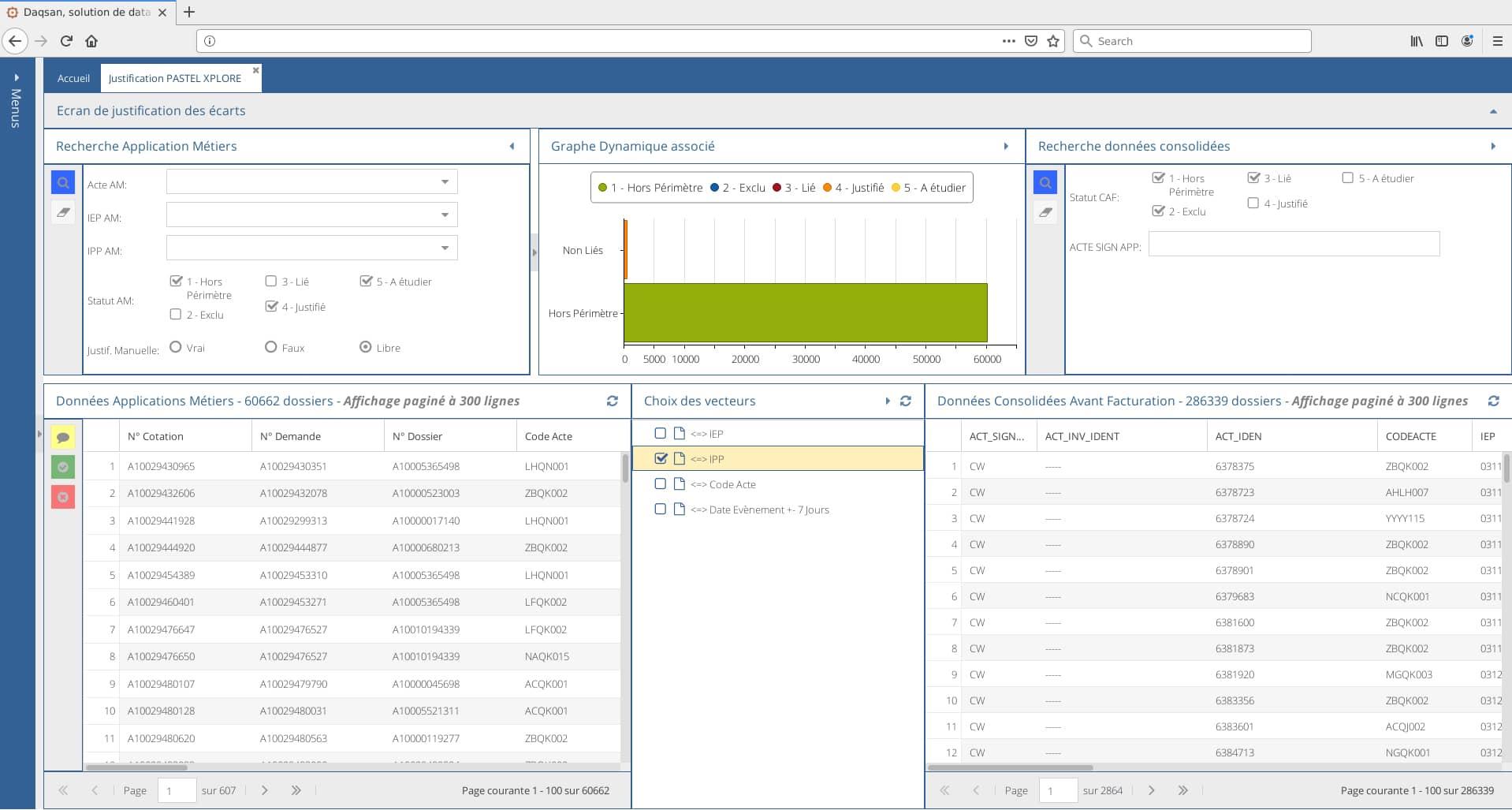 Daqsan, solution logiciel, accompagnement a la certification aux comptes par le croisement des actes factures